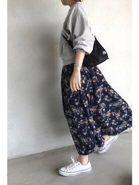 a.megumiさんの「花柄スカート(NOISE MAKER)」を使ったコーディネート