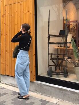 LIFE's堀江店|SHIZUKAさんの「スリットタートルニット(TODAYFUL)」を使ったコーディネート