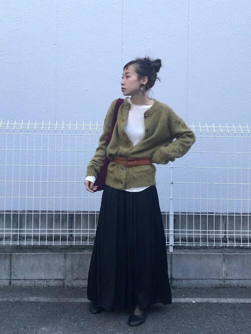 SHIZUKAさんの「シャギーモヘアカーディガン(TODAYFUL)」を使ったコーディネート