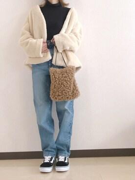 ☻ m♡ao*さんの「ファーノーカラーコート 770869(LOWRYS FARM ローリーズ ファーム)」を使ったコーディネート