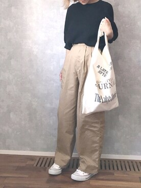 ☻ m♡ao*さんの「Vintageトートバッグ(TODAYFUL|トゥデイフル)」を使ったコーディネート