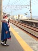鮎さんの「人気モッズコートのデニムver.登場!! 『somariデニムモッズコート』(somari チュチュアンナ)」を使ったコーディネート