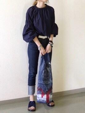 mueさんの「ボリューム袖プルオーバー(Liesse|リエス)」を使ったコーディネート