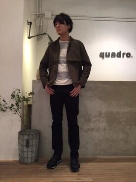 quadro 名古屋ナディアパーク店|murateさんの(quadro|クオドロ)を使ったコーディネート