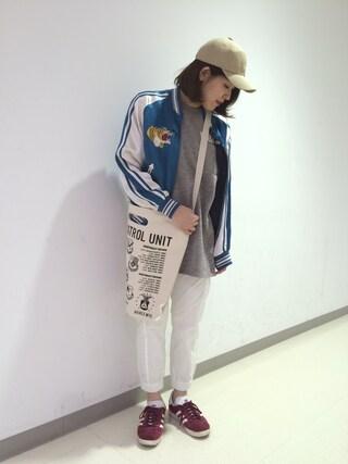 AVIREX 横浜|MANAさんの(AVIREX|アヴィレックス)を使ったコーディネート
