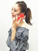 dazzlin SHOP STAFFさんの「dazzlin iPhone7専用 iFace First Classケース(dazzlin ダズリン)」を使ったコーディネート