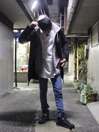 「NIKE KWAZI(ナイキ クワザイ)844839-001(NIKE)」 using this 🌈hisanista looks