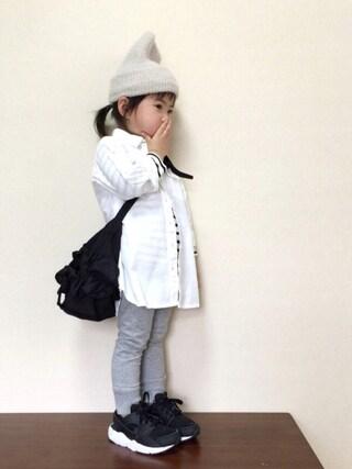 bow-changさんの「ARTEX WATCH CAP(COMECHATTO&CLOSET カムチャットアンドクロゼット)」を使ったコーディネート