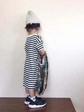 bow-changさんの「DOORS オーガニックボーダー半袖OP(URBAN RESEARCH DOORS|アーバンリサーチドアーズ)」を使ったコーディネート