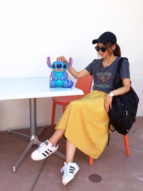 nyaobuさんの「【BAILA6月号掲載】【リバーシブルで2色楽しめる!】ギャザーリバースカート747891(Andemiu)」を使ったコーディネート