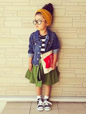 sana♡さんの「タイプライターギャザースカート(RADCHAP|ラッドチャップ)」を使ったコーディネート