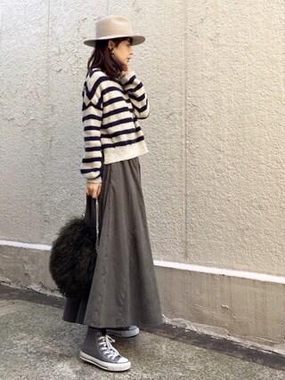 ari☆さんの「SORBATTI LOBG BRIM HAT◆(SLOBE IENA|スローブイエナ)」を使ったコーディネート