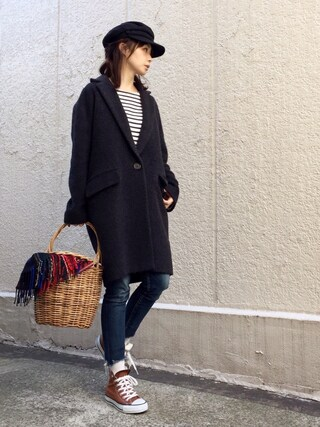 ari☆さんの「マリンキャップ(SHIPS for women|シップスフォーウィメン)」を使ったコーディネート