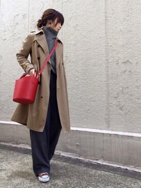 ari☆さんの「【PELLETTERIA VENETA】レザーバケツバッグ◆(Spick & Span|スピック&スパン)」を使ったコーディネート
