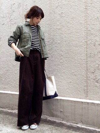 「≪2017S/S予約≫ワークショートジャケット ツイカ◆(FRAMeWORK)」 using this ari☆ looks