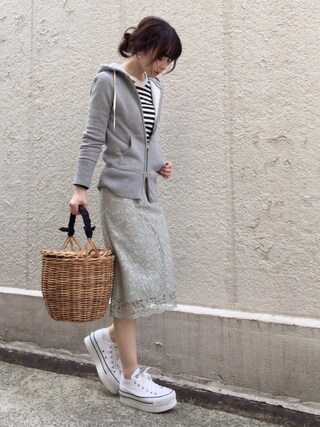 ari☆さんの「コードレース スカート◆(IENA|イエナ)」を使ったコーディネート