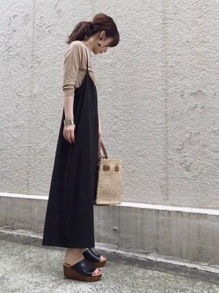ari☆さんの「≪予約≫サロペット◆(FRAMeWORK フレームワーク)」を使ったコーディネート