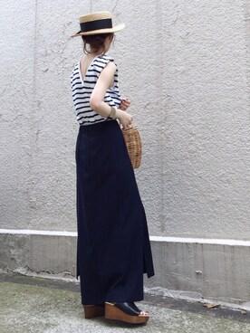 ari☆さんの「AMERICANA スウェットスカート◆(Deuxieme Classe|ドゥーズィエムクラス)」を使ったコーディネート