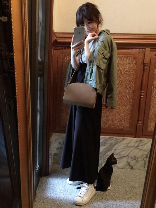 ari☆さんの「≪2017S/S予約≫ワークショートジャケット ツイカ◆(FRAMeWORK)」を使ったコーディネート