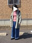 cottonさんの「WOMEN コットンカシミヤケーブルセーター(長袖)(ユニクロ|ユニクロ)」を使ったコーディネート