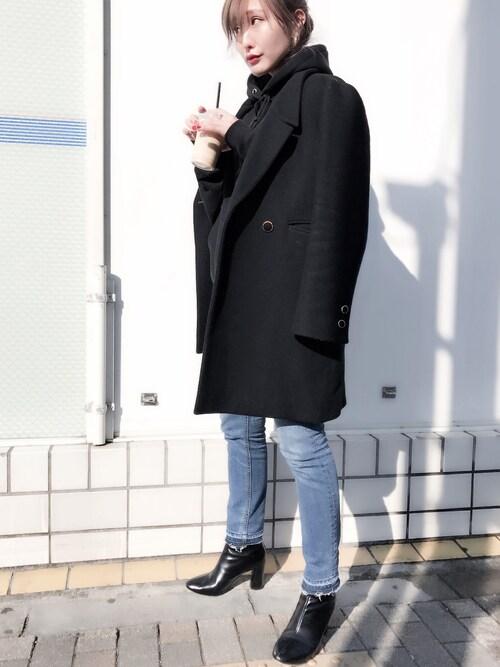 小竹麻美さんの「スタンダードスキニーデニムパンツ(MURUA)」を使ったコーディネート