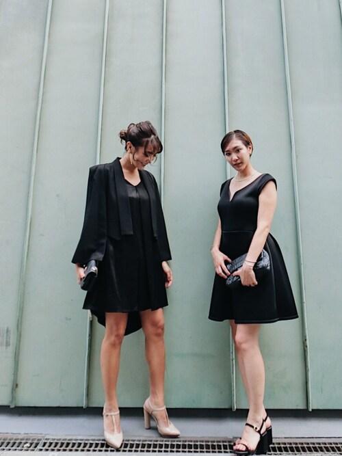 小竹麻美さんの「【DRESS】バストスリットフィット&フレアOP(MURUA)」を使ったコーディネート