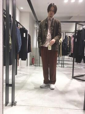 STUDIOUS ルミネ池袋店|宮城 大さんのシャツ/ブラウス「マルチストレッチブロードシャツ(UNITED TOKYO|ユナイテッドトウキョウ)」を使ったコーディネート