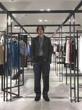 STUDIOUS ルミネ池袋店|宮城 大さんのライダースジャケット「カウダブルライダース(UNITED TOKYO|ユナイテッドトウキョウ)」を使ったコーディネート