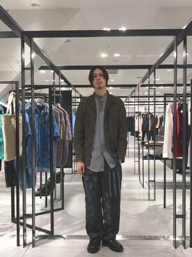 STUDIOUS ルミネ池袋店|宮城 大さんのパンツ「パッチワークエスニックガラパンツ(UNITED TOKYO|ユナイテッドトウキョウ)」を使ったコーディネート