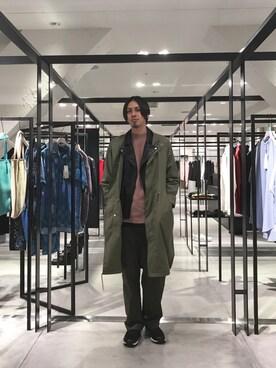 STUDIOUS ルミネ池袋店|宮城 大さんのモッズコート「スタンドカラーモッズコート(UNITED TOKYO|ユナイテッドトウキョウ)」を使ったコーディネート