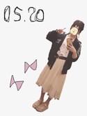 「シフォンイレヘムスカート(one after another NICE CLAUP)」 using this だっち。 looks