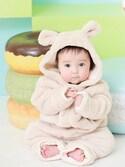 kanataさんの「マシュマロボア&オーガニックコットン くまさんジャンプスーツ(Sweet Mommy|スウィートマミー)」を使ったコーディネート