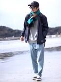 yuumaさんの「VANS ヴァンズ OLD SKOOL オールドスクール V36CL CVS BLACK(VANS バンズ)」を使ったコーディネート