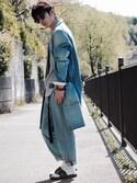 yuumaさんの「BC デニム チェスター コート◆(green label relaxing グリーンレーベルリラクシング)」を使ったコーディネート