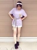 CHIEKO   LANGさんの「クロスヘアバンド【PLAIN CLOTHING】(PLAIN CLOTHING|プレーンクロージング)」を使ったコーディネート