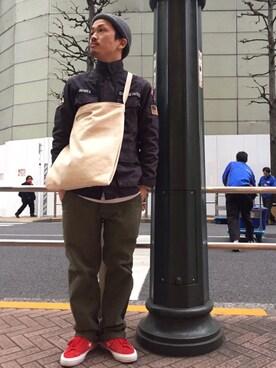 AVIREX  福岡|MASAYAさんのミリタリージャケット「avirex/ アヴィレックス / CIVIL AIR PATROL. BDU JACKET/ シビル エア パトロール BDU ジャケット(AVIREX|アヴィレックス)」を使ったコーディネート