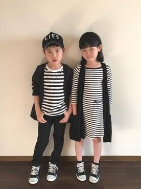 R♡Sさんの「CONVERSE コンバース CHILD_ALL_STAR_RZ_HI 32513691(15-21) BLACK(CONVERSE|コンバース)」を使ったコーディネート