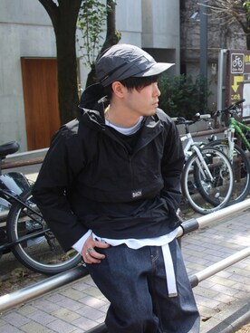 JOURNAL STANDARD 横浜店|大木さんのマウンテンパーカー「BACH GARMENTS TRACER ANORAK /バッハ ガーメンツ#(bach|バッハ)」を使ったコーディネート