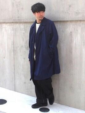 JOURNAL STANDARD 渋谷店|大木さんのトレンチコート「タッサーパッカブルコート#(JOURNAL STANDARD|ジャーナルスタンダード)」を使ったコーディネート