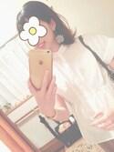 そんちゃんさんの「【WEB限定】 KBFノーカラーペプラムシャツ(KBF|ケイビーエフ)」を使ったコーディネート