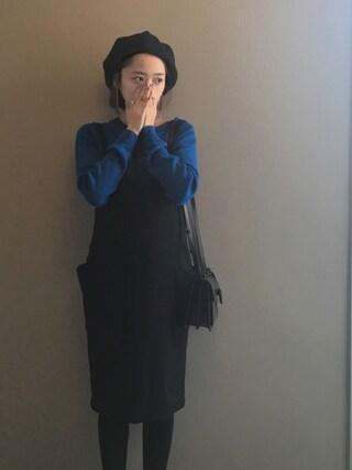近藤千尋さんの「ギャザー ストリング ニット(EMODA|エモダ)」を使ったコーディネート