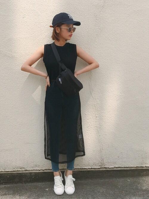 近藤千尋使用「FREAK'S STORE(WEB限定 ZAKK PAC/ザックパック HIP BAG ウエストポーチ)」的時尚穿搭