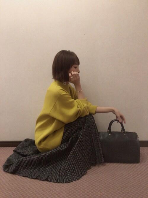 近藤千尋使用「EMODA(バルキーハイネックニットワンピース)」的時尚穿搭