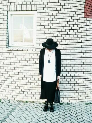 りゅうさんの「リヨセルコットンタートルネックロンTEE ライトグレー(LAD MUSICIAN|ラッドミュージシャン)」を使ったコーディネート