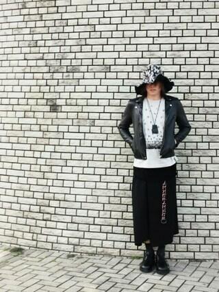 りゅうさんの「2TONE JQ WIDE BRIM HAT(SHAREEF|シャリーフ)」を使ったコーディネート