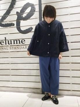 journal standard luxe 渋谷店|JOURNAL STANDARD relume 天王寺店 スタッフさんのパンツ「ライトドライギャバ ラップパンツ# (JOURNAL STANDARD relume|ジャーナルスタンダード レリューム)」を使ったコーディネート