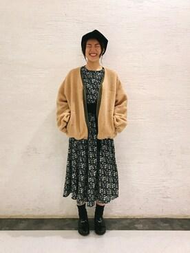 ViS 新宿ミロード|misakiさんの「コーデュロイビッグキャスケット(ViS)」を使ったコーディネート