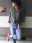 タマユさんの「converse コンバース ALL STAR OX オールスター OX 3216 RED(US)(CONVERSE|コンバース)」を使ったコーディネート