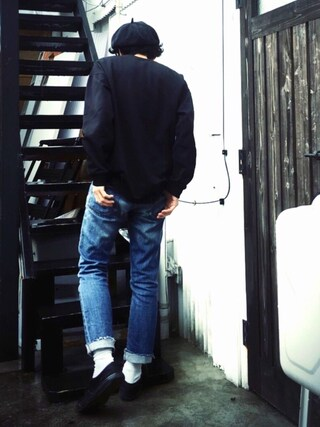 「WEB限定《予約》RUSSELL×JS 18s L/S POCKET TEE/別注 ラッセル#(JOURNAL STANDARD)」 using this かずくん looks