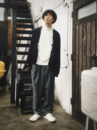 「CONVERSE(コンバース)  LEATHER JACK PURCELL ジャックパーセル  MENS(Jack Purcell)」 using this かずくん looks